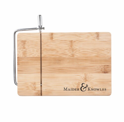 Wireslice Bamboo Cheese Slicing Board by True Perspective: front