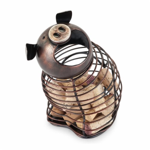 Oink™ Pig Cork Holder by True Perspective: front