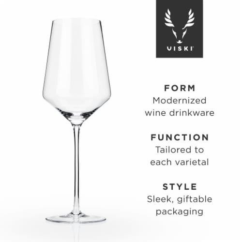 Angled Crystal Bordeaux Glasses by Viski® Perspective: front