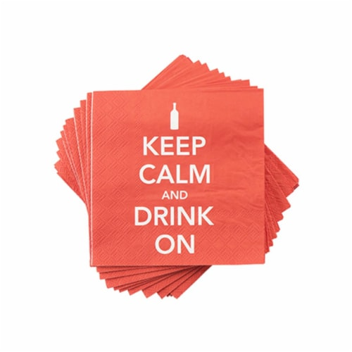 True 4942 Keep Calm Napkin Perspective: front