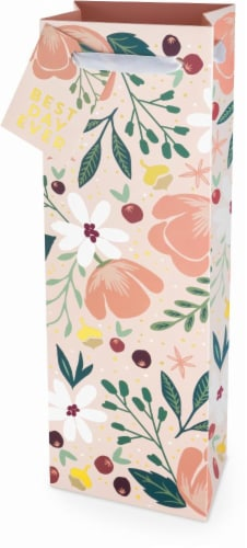 True Fabrications Best Day Ever Floral Wine Bag Perspective: front