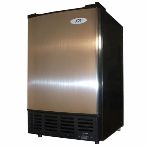 Sunpentown IM-150US Under Counter Ice Maker with Stainless Steel Door Perspective: front