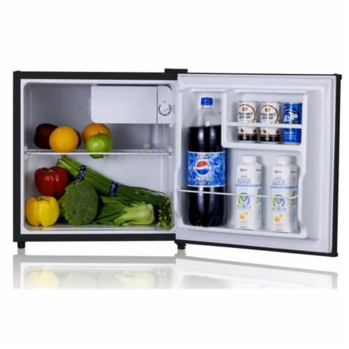 SUNPENTOWN RF-164SS 1.6 cu. ft. Stainless Refrigerator with Energy Star Perspective: front
