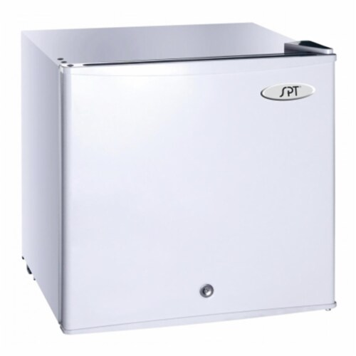 SUNPENTOWN UF-114W 1.1 cu.ft. Upright Freezer in White - Energy Star Perspective: front