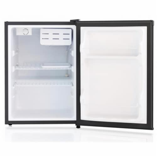 SUNPENTOWN RF-244SS 2.4 cu.ft. Compact Refrigerator in Stainless Steel - Energy Star Perspective: front