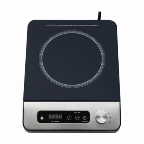 Sunpentown SR-1884SS 1650W Induction Cooktop with Control Knob, Black Perspective: front