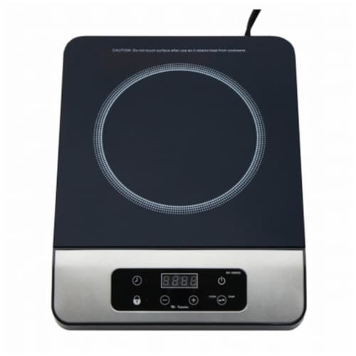 Sunpentown SR-1885SS 1650W Induction Cooktop, Black Perspective: front