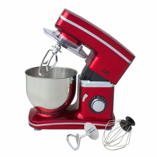 SPT MM-106R 8-Speed Stand Mixer, Red Perspective: front
