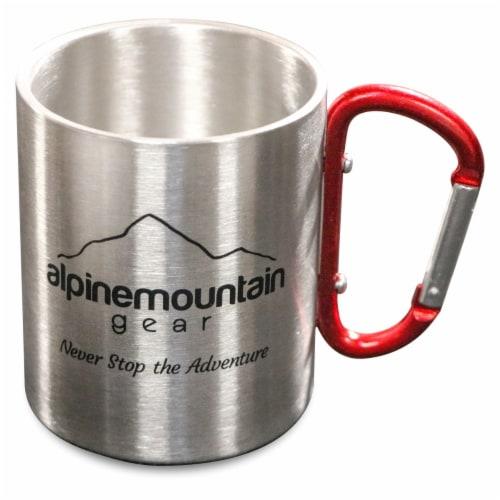 Alpine Mountain Gear Carabiner Mug - Silver Perspective: front
