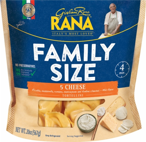 Rana 5 Cheese Tortellini Family Size Perspective: front