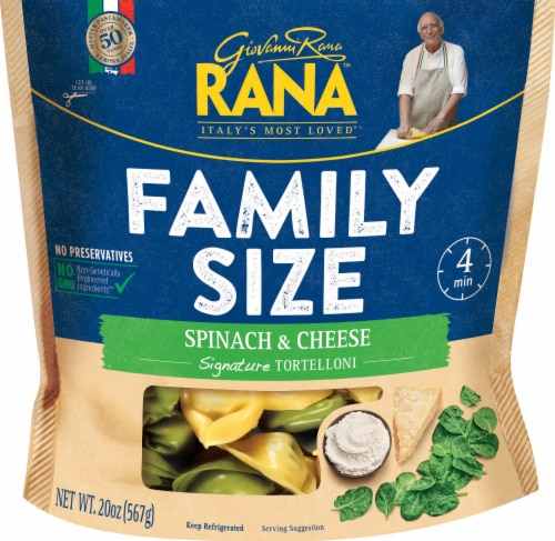 Rana Family Size Spinach & Cheese Tortelloni Perspective: front