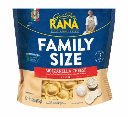 Rana Mozzarella Cheese Ravioli Pasta Family Size Perspective: front