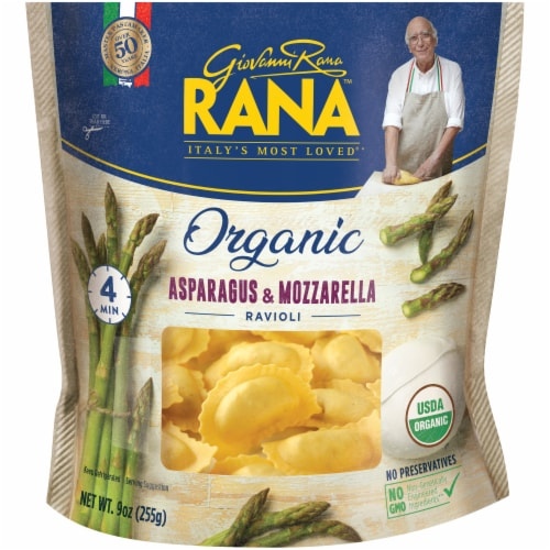 Rana Organic Asparagus & Mozzarella Ravioli Perspective: front