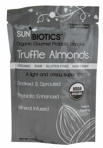 Windy City Organics SunBiotics Organic Truffle Almonds Perspective: front