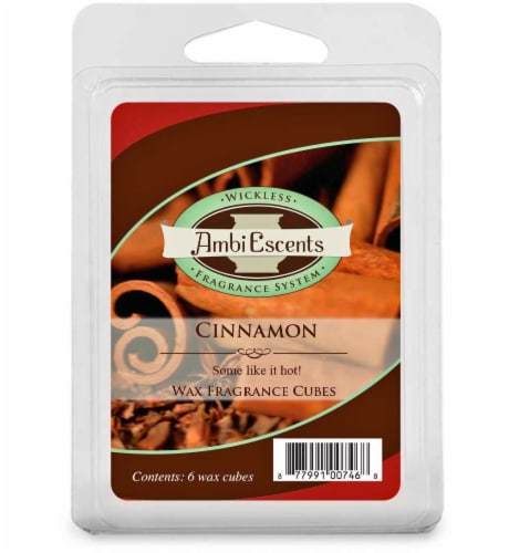 AmbiEscents™ Cinnamon Wax Fragrance Cubes - 6 Pack Perspective: front