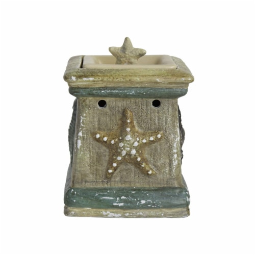 Scentsationals Home Decorative Scented By The Sea Full Size Ceramic Wax Warmer - Cream Perspective: front