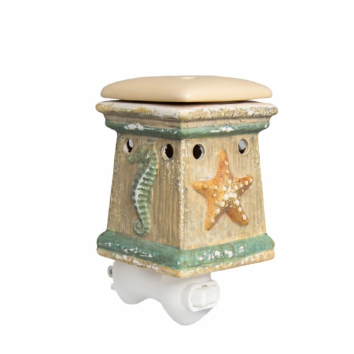 Scentsationals Home Fragrance Coastal By the Sea Plug-in Accent Wax Warmer with Light Bulb Perspective: front