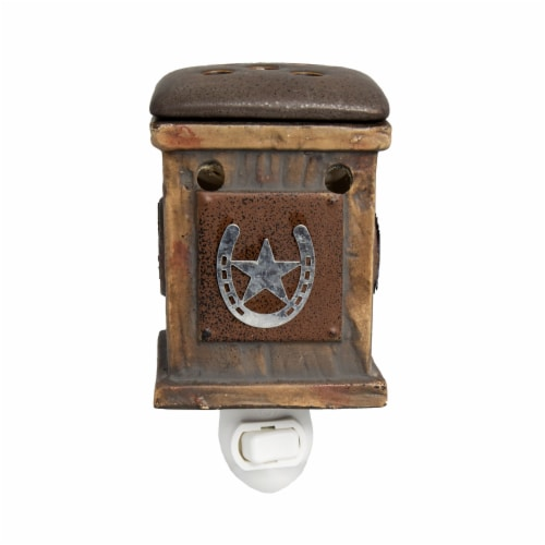 Scentsationals Home Fragrance Western Rustic Plug-in Accent Wax Warmer and15 Watt Light Bulb Perspective: front