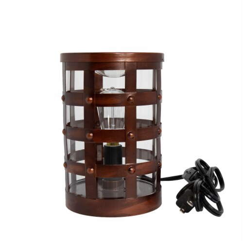 Scentsationals Home Fragrance Colosseum Edison Full-Size Wax Warmer with 40 Watt Light Bulb Perspective: front