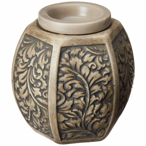Common Scents Carved Laurel Full Size Wax Warmer Perspective: front