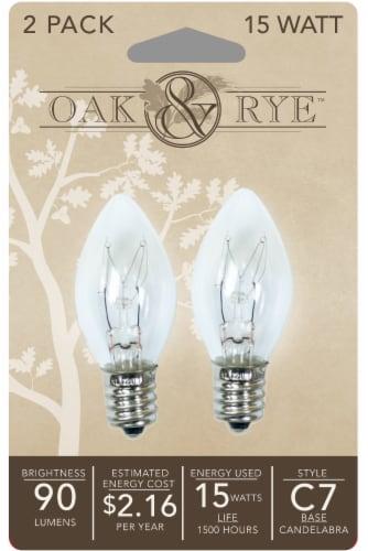 Oak & Rye 15-Watt C7 Light Bulbs - Clear Perspective: front