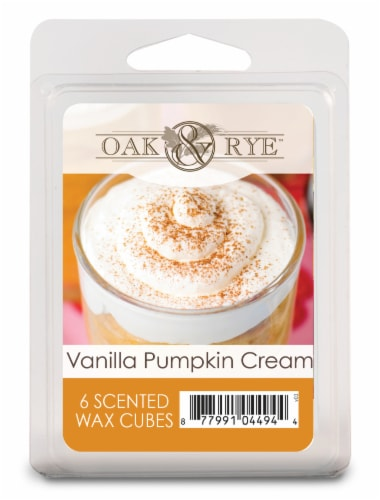 Oak & Rye Vanilla Pumpkin Cream Wax Cubes - 6pk Perspective: front