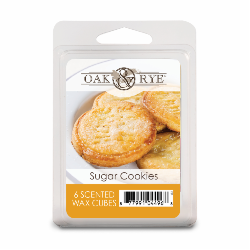 Oak & Rye Sugar Cookies Wax Cubes - 6 Pack Perspective: front