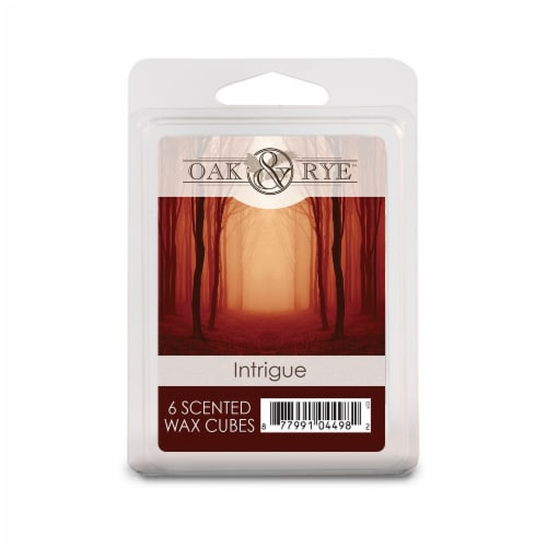 Oak & Rye Intrigue Scented Wax Cubes 6 Pack Perspective: front