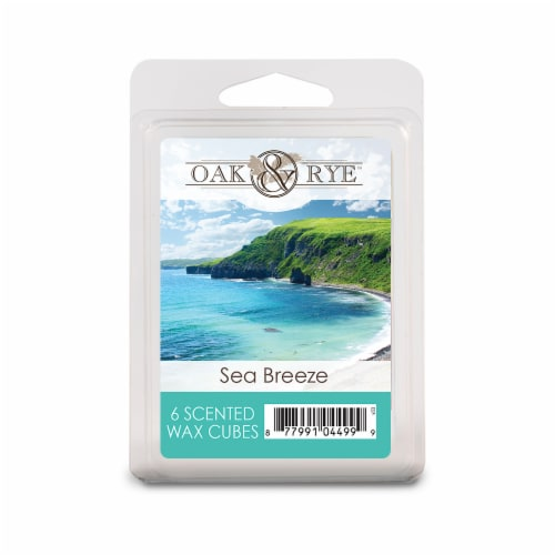 Oak & Rye Sea Breeze Scented Wax Cubes 6 Pack Perspective: front