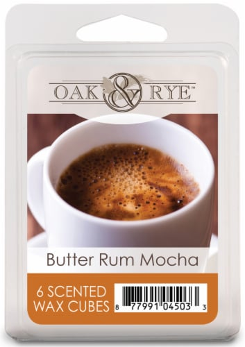 Oak & Rye Butter Rum Mocha Wax Cubes 6 Pack Perspective: front