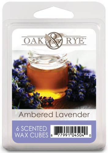 Oak & Rye Ambered Lavender Wax Cubes 6 Pack Perspective: front
