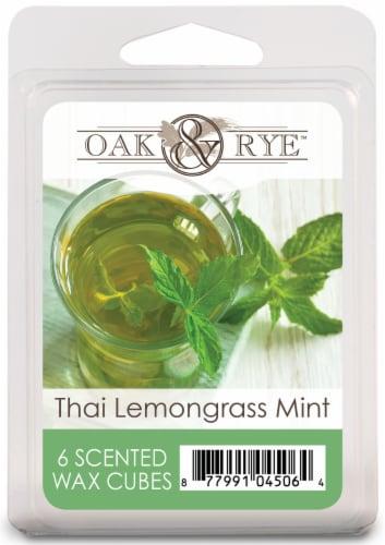 Oak & Rye Thai Lemongrass Mint Wax Cubes 6 Pack Perspective: front