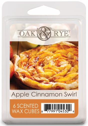 Oak & Rye Apple Cinnamon Swirl Wax Cubes 6 Pack Perspective: front