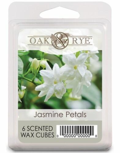 Oak & Rye Jasmine Petals Wax Cubes - 6 Pack Perspective: front