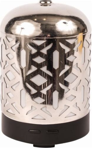 AmbiEscents Cankiri Diffuser and Canopy Set - Silver Perspective: front