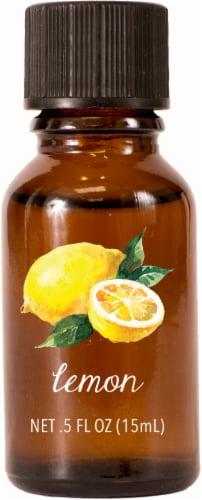 AmbiEscents Lemon Essential Oil Perspective: front