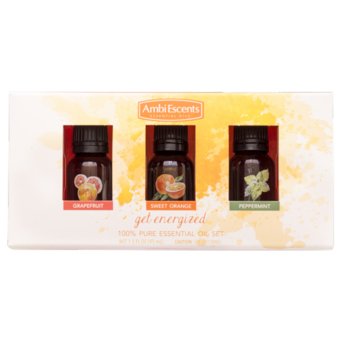 AmbiEscents Get Energized Essential Oil - 3 Piece Perspective: front