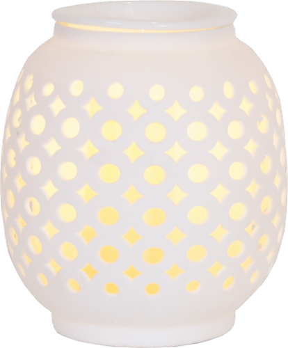 AmbiEscents Petra Wax Warmer - White Perspective: front