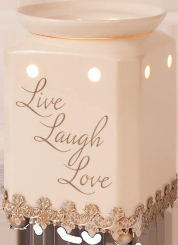 Oak & Rye Live Laugh Love Wax Warmer - Cream Perspective: front
