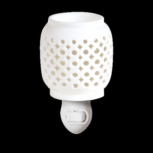 Oak & Rye Petra Mini Wax Warmer - White Perspective: front