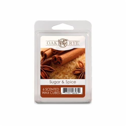 Oak & Rye™ Sugar & Spice Scented Wax Cubes Perspective: front