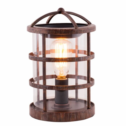 Oak & Rye Adelaide Edison Wax Warmer - Brown/Transparent Perspective: front
