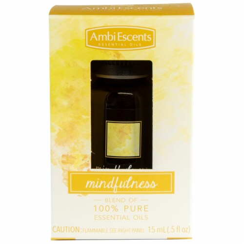 AmbiEscents Mindfulness Essential Oils Blend Perspective: front