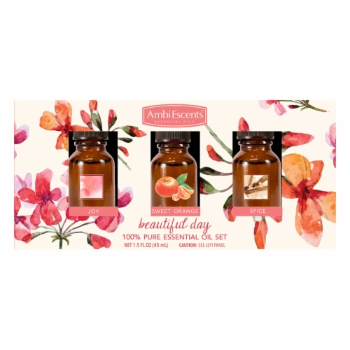 AmbiEscents™ Beautiful Day Essential Oil Set Perspective: front