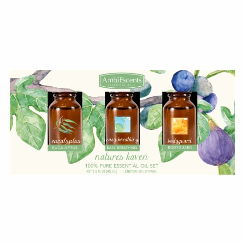 AmbiEscents™ Natures Haven Essential Oils Set Perspective: front