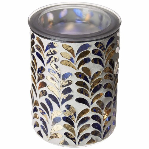 Scentsationals Home Indoor Decorative MOSAIC Royal Plume Full Size Wax Warmer, 31x31x7.5CM Perspective: front