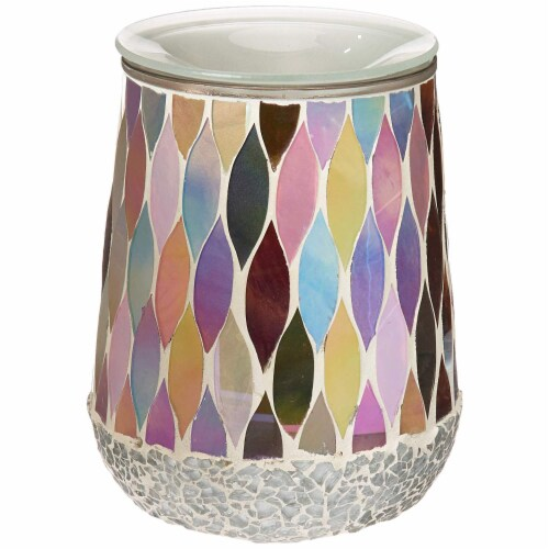 Scentsationals Home Indoor Decorative MOSAIC Pearl Full Size Wax Warmer Perspective: front