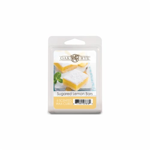 Oak & Rye Sugared Lemon Bars Wax Cubes - 6 Pack Perspective: front