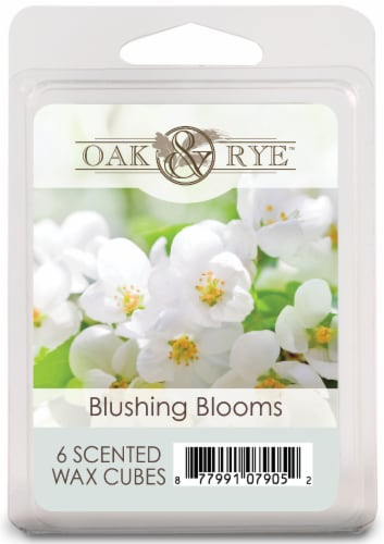 Oak & Rye Blushing Blooms Scented Wax Cubes Perspective: front