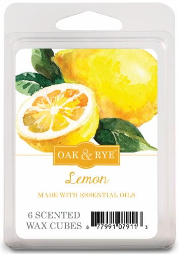 Oak & Rye Lemon Scented Wax Cubes 6 Pack Perspective: front